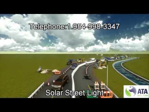 ATA INTL CORP Solar Stree Ligth LED 24 VOLT
