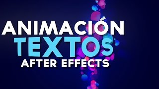Animacion Basica de Textos After Effects Tutorial