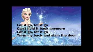 Demi Lovato -let it go [frozen] lyrics
