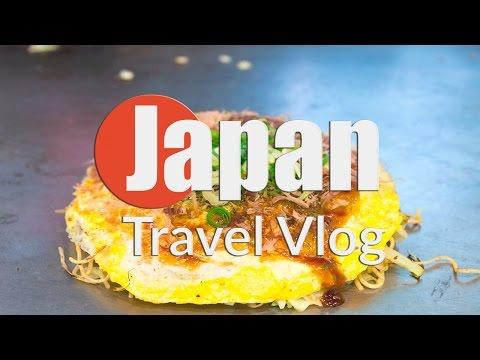 EATING OKONOMIYAKI IN HIROSHIMA   JAPAN TRAVEL VLOG 13
