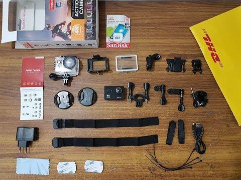 UNBOXING Action Camera EKEN H9se 4K WIFI