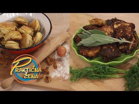 Praktična žena - 1. Pogačice sa čvarcima, 2. Tajlandska piletina sa prelivom od žalfije i mirođije