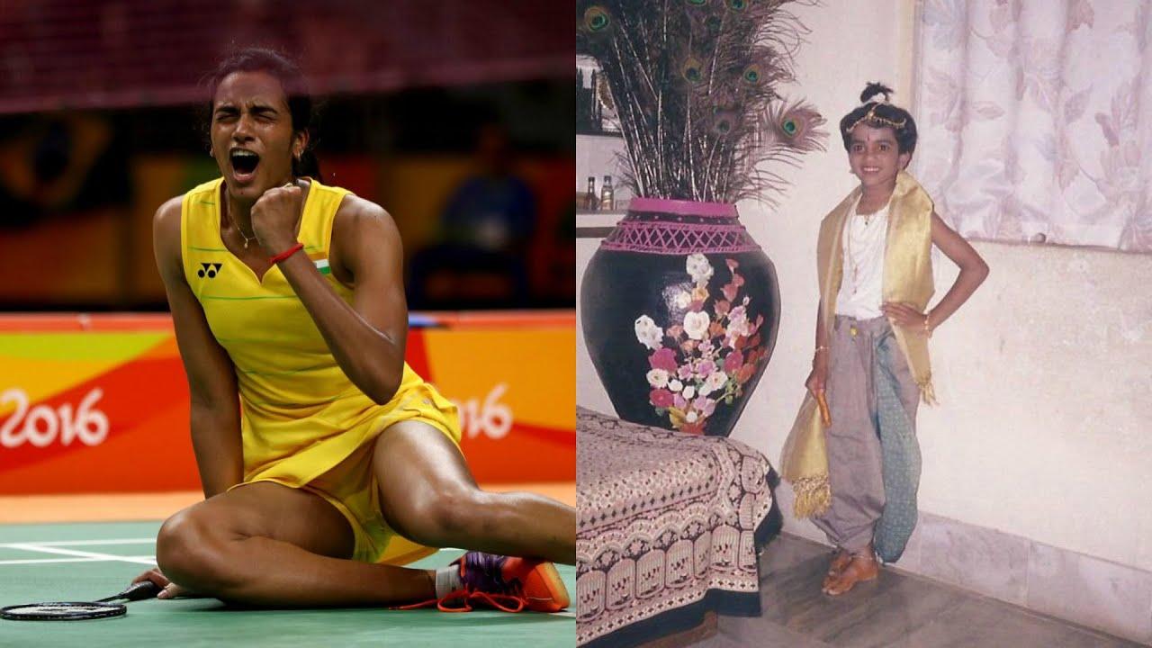 Celebrity Childhood Indian Badminton Player PV Sindhu Childhood