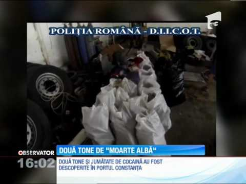 Cea mai mare cantitate de cocaină depistată vreodată în România. Drogurile valorează 625 de mi