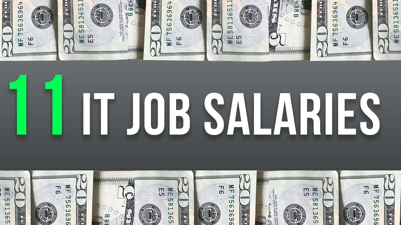 11 High Paying Information Technology Jobs Salaries 2018 Youtube