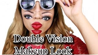 Trippy Double Vision Makeup Look girls makeup By Girls Makeup | double face makeup | cool makeup