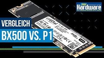 Was bringt eine NVME-SSD?   SATA gegen PCI-Express   Crucial BX 500 und P1 im Vergleich