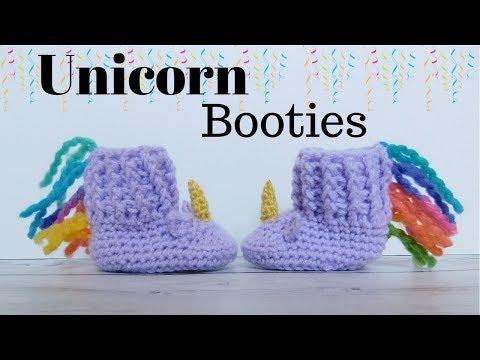 8e9093d72 Unicorn booties/unicorn slippers/unicorn baby shoes - YouTube