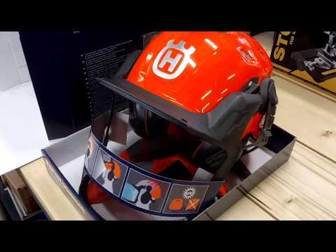 5a4a957b Husqvarna Technical helmet for lumberjack - Forest Helmet - YouTube