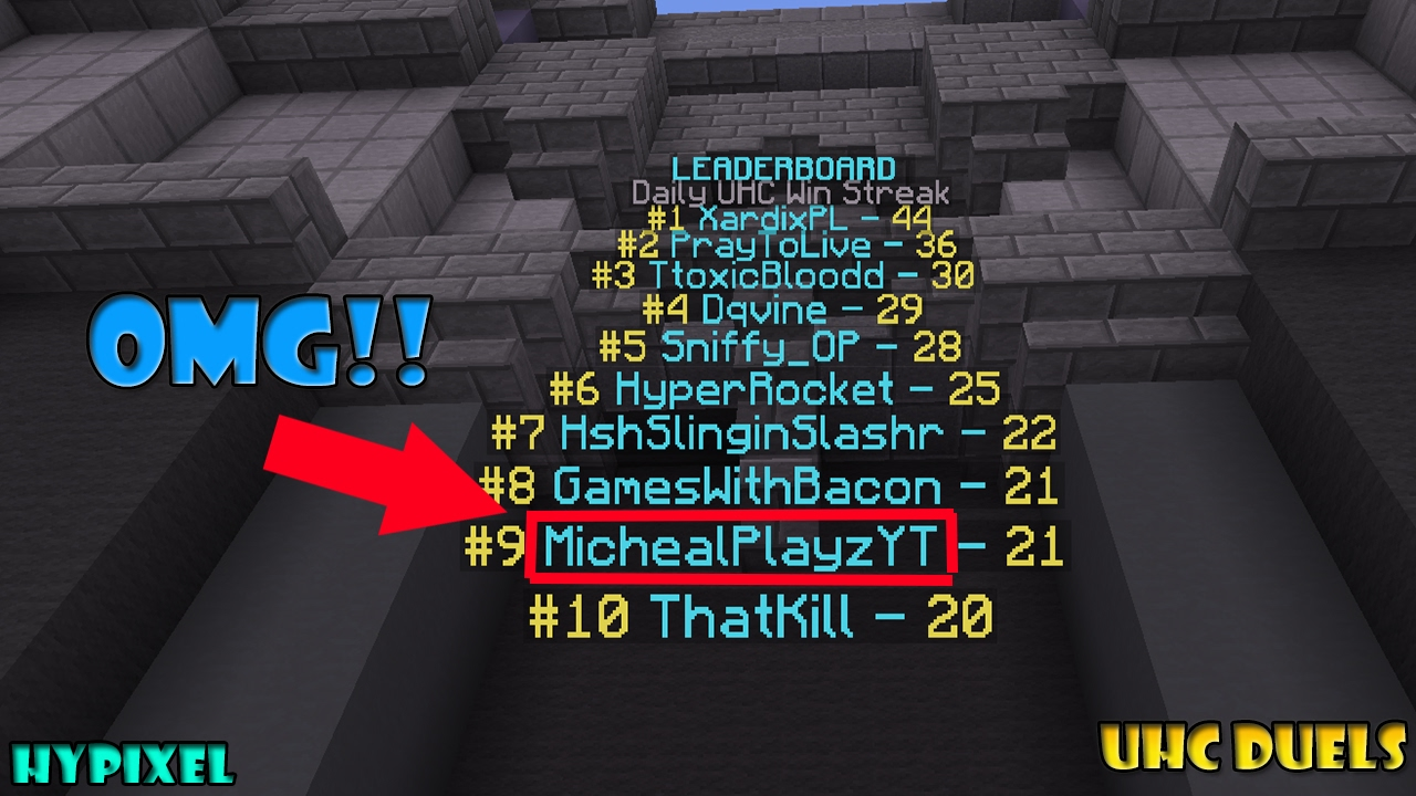 I Got On The LeaderBoard Once!! | Minecraft Hypixel UHC Duels