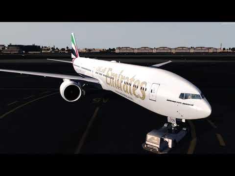 UAE203A departure out of Dubai! Fully VATSIM ATC 1080P!