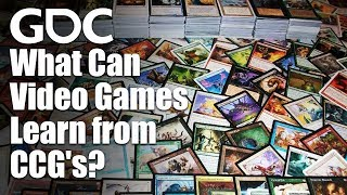 What Can Video Games Learn from Collectible Card Games?