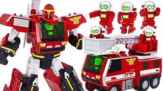 Misión imposible! Hello Carbot Firent! Transformarse en un camión de bomberos! | Juguete DuDuPop