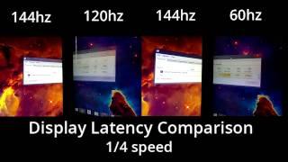latency comparison 60hz vs 120hz vs 144hz