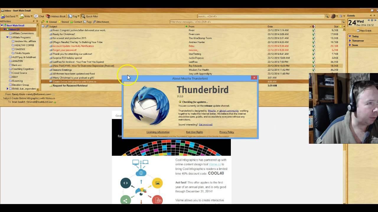 How to fix extremely slow Thunderbird Mozilla 31.3.0 and 31.6.0