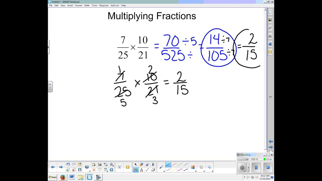 Cross canceling when multiplying with fractions youtube cross canceling when multiplying with fractions ccuart Gallery
