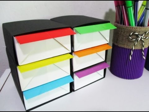 DIY #140 | ORIGAMI Organizer for Small Stationeries ♥