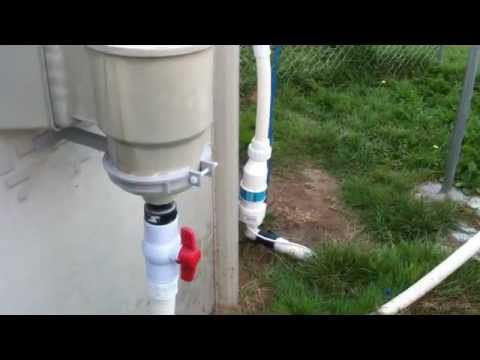 Above ground swimming pool water recirculation system DIY