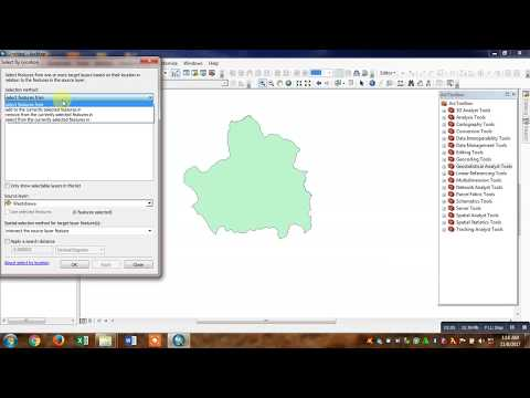 Extracting Area of Interest using Select Feature Tool in ArcMap