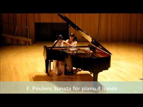 Poulenc - Sonata for piano four-hands / Fabiana & Paula Chávez