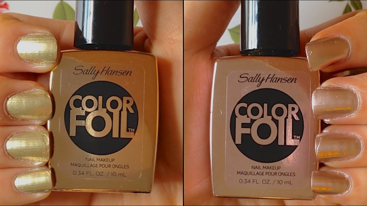 Sally Hansen Color Foil Nail Polish Review Demo Hd