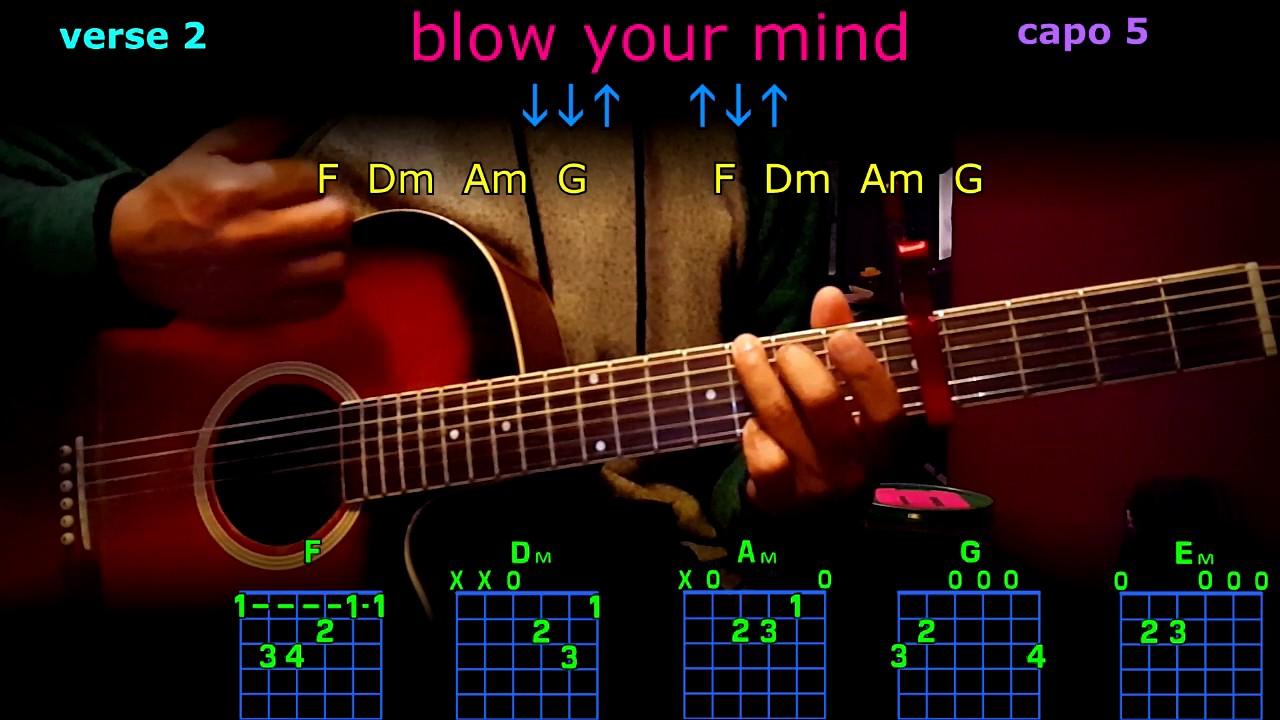 Blow Your Mind Dua Lipa Guitar Chords Youtube