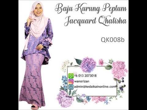 Baju Kurung Peplum Jacquard Qhalisha kod QK008