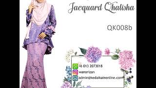 Baju Kurung Peplum Jacquard Qhalisha kod QK008 Mp3
