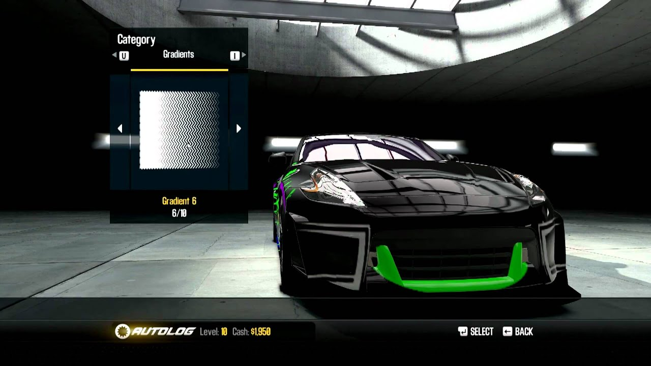 need for speed shift 2 nissan 370z customization doovi. Black Bedroom Furniture Sets. Home Design Ideas