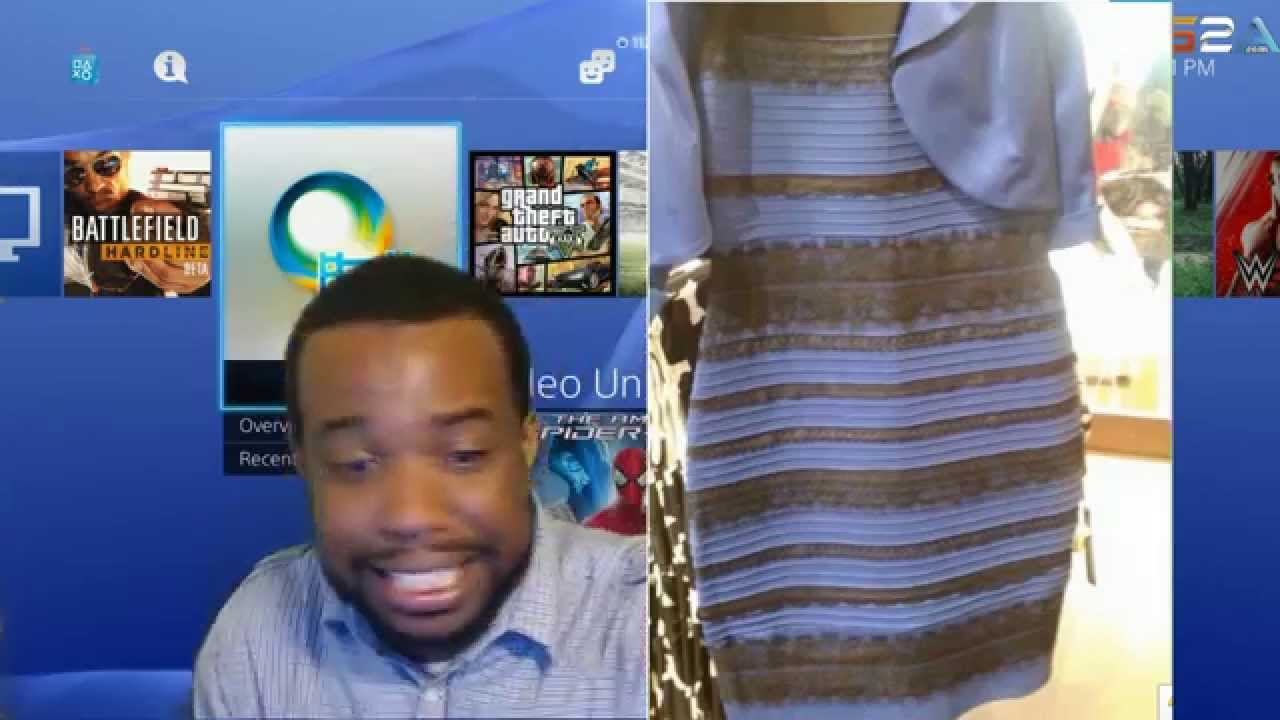 WHITE AND GOLD DRESS BLACK AND BLUE DRESS ! RANT! YOU COLOR BLIND ...
