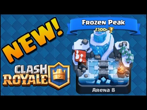 Clash Royale - NEW Frozen Peak Arena & BIGGEST Clash Royale Tournament ...