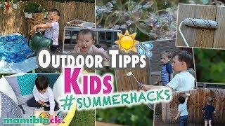 7 Outdoor Ideen für Kinder 🌴☀️| Summer Hacks | mamiblock