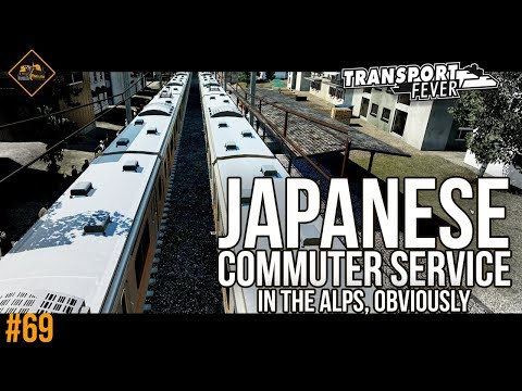 A Japanese commuter service in the Alps. Transport Fever #69