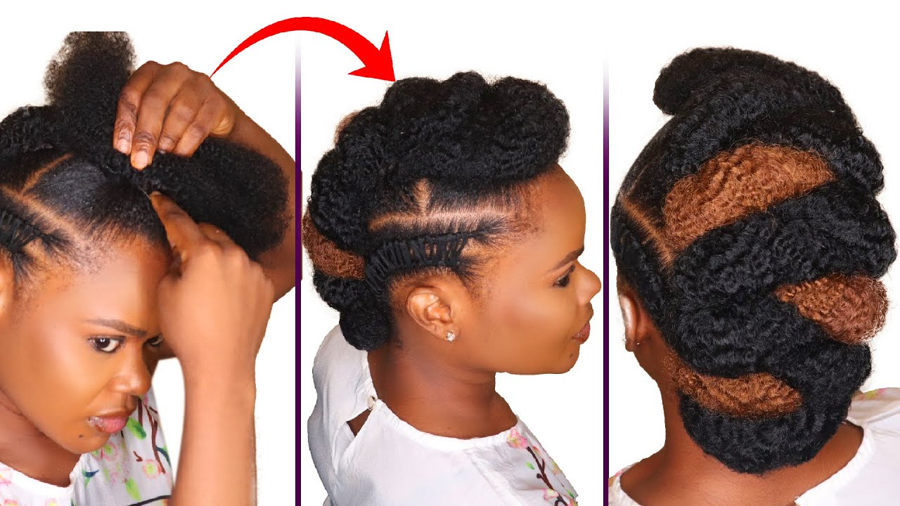 Diy Natural Hairstyle Tutorial Amazing Tuck Roll And Pin Natural Hairstyles Youtube