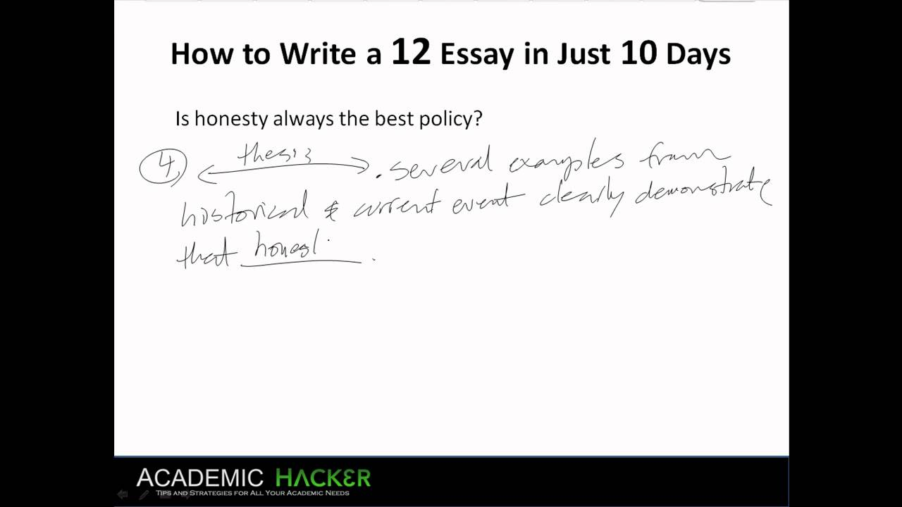 Is honesty always the best policy sat essay