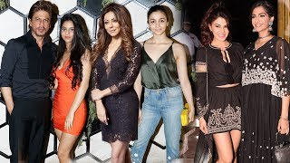 Shah Rukh With Daughter Suhana And Other Bollywood Celebs At Gauri Khan's Designed Restaurant Launch