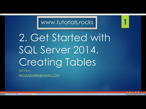 SQL Server 2014. How to create tables