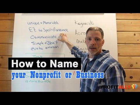 How to Name your Nonprofit or Business