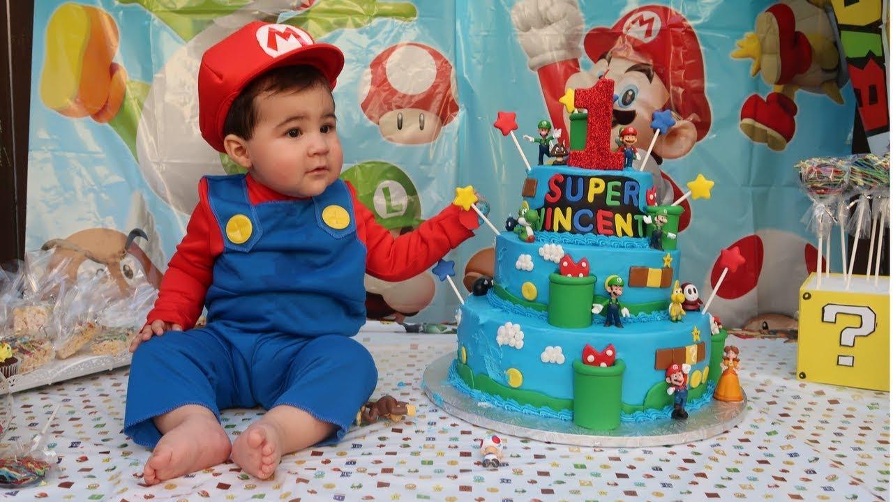 Super Mario Theme Birthday Party Vincent S 1st Birthday Youtube
