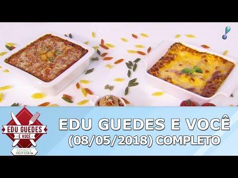 Edu Guedes Ensina Receita De Macarrão De Forno E Lasanha De Abobrinha