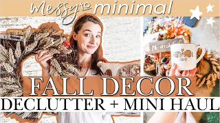 FALL DECOR DECLUTTER WITH ME🍂 MINIMALIST Haul From MICHAEL'S, TARGET, AMAZON | Fall HOME DECOR TOUR