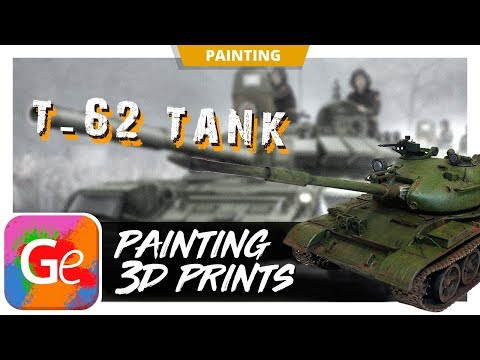 T-62 Soviet Tank Miniature 3D Printed and Painted by Gambody