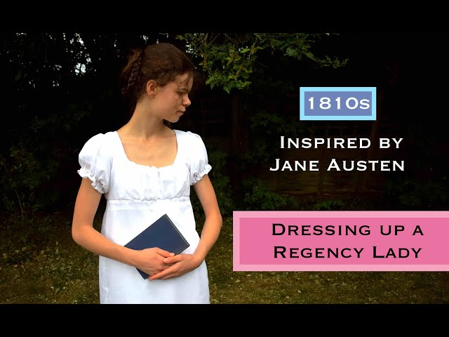 Dressing up a Regency Lady (Jane Austen Inspired) | Empire Gown | 1810s DRESS REVEAL