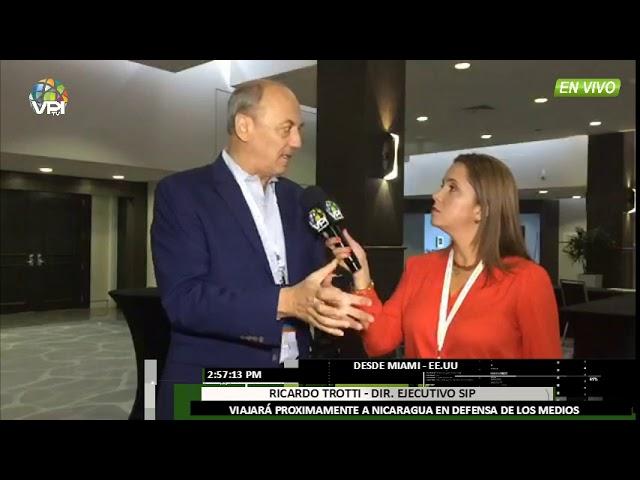 Miami - Ricardo Trotti habla sobre la lucha por la libertad de expresión en Latinoamérica - VPItv