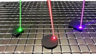 Laser Motion Control of Levitating Graphite | Magnetic Games