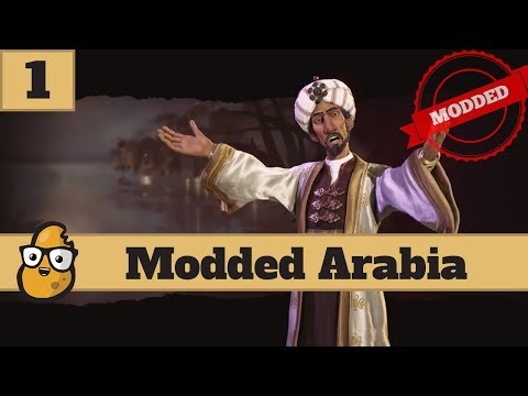 Civ 6 Arabia Ep. 1 - Modded Saladin Arabian Empire - Emperor and Chill