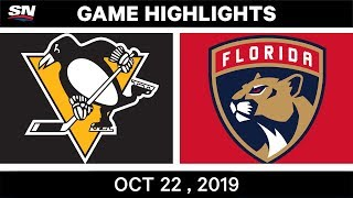 NHL Highlights | Penguins vs Panthers - Oct 22, 2019