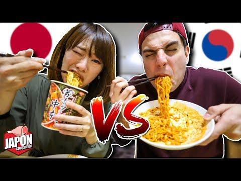 RETO DEL RAMEN ULTRA PICANTE: Corea Vs Japón