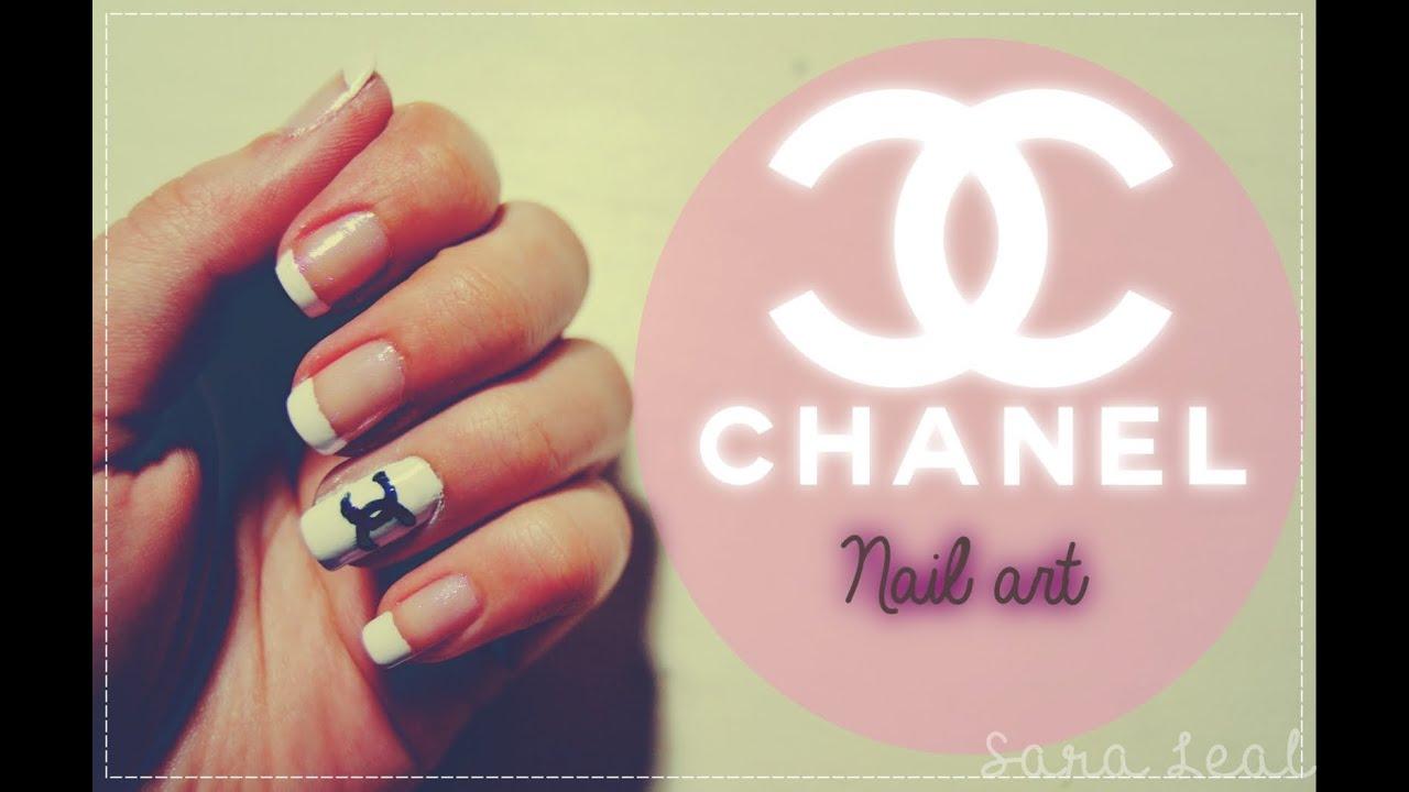 chanel inspired nail art sara
