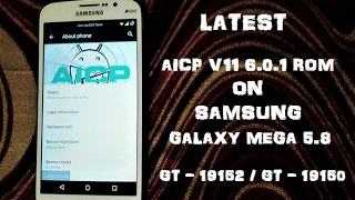 AICP v11 (FINAL) (6.0.1) for Galaxy Mega 5.8 (GT-I9152 / GT-19150)
